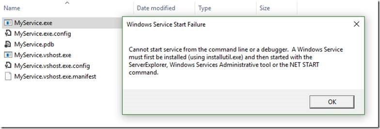 install an exe as service