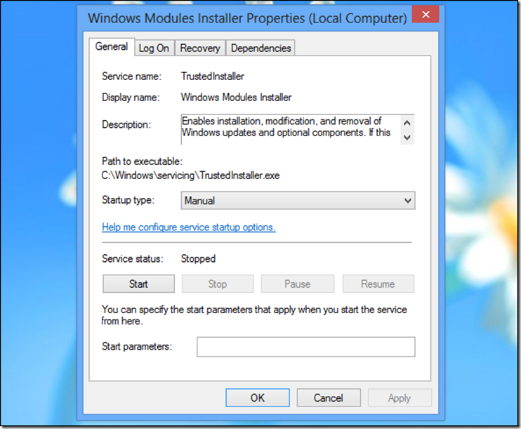 How to Change the Trusted Installer in Windows Server 2012