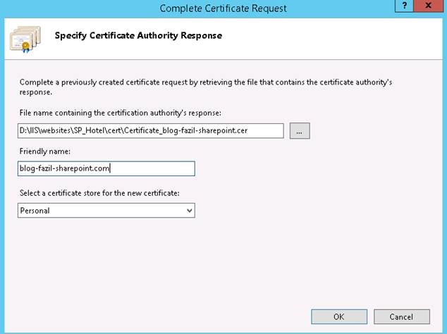 Install SSL certificate to the Server and Binding of SSL