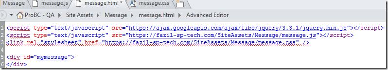 Custom Alert Message on SharePoint Page using Content Editor