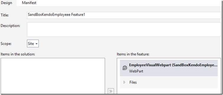 Create a Custom SharePoint Webpart will have Kendo grid to fetch/add