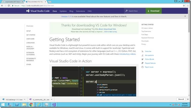 Visual Studio Code – The Latest IDE for the Client Side