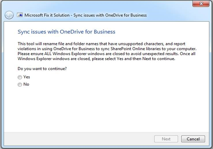 Restrictions and limitations when you sync SharePoint