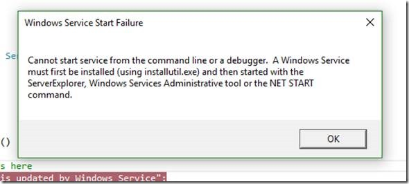How to debug Windows Service Source Code without Installing