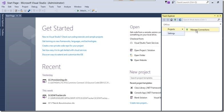 Step by Step Procedures to Integrate Visual Studio Team