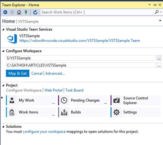 Step by Step Procedures to Integrate Visual Studio Team
