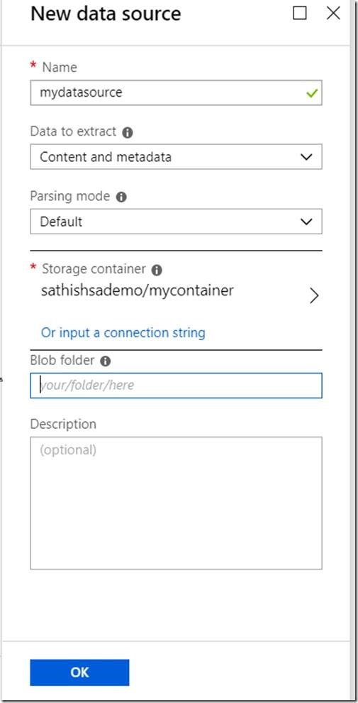 How to import data from Azure Blob Storage to Azure Search