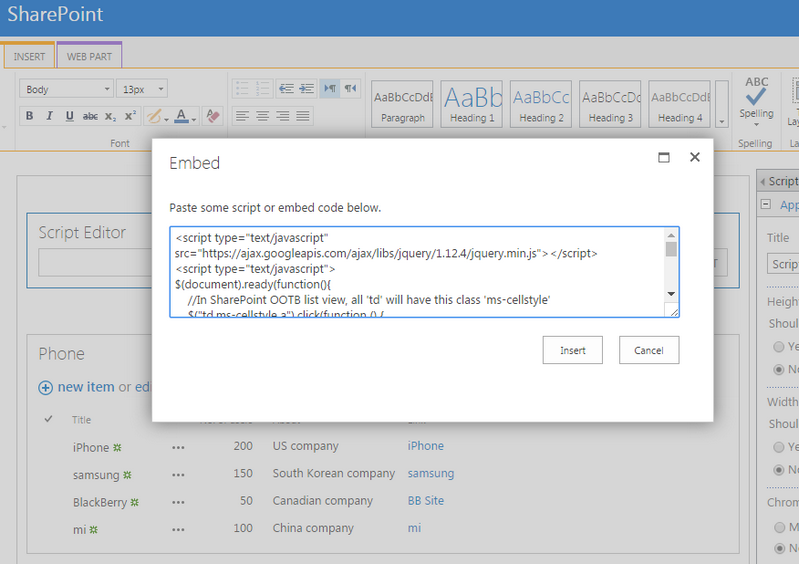 How to Open SharePoint List Hyperlink Column in Modal Popup Window