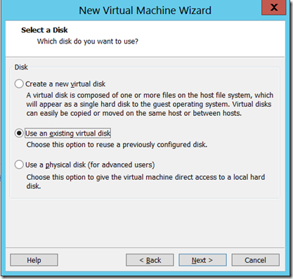How to Create a Virtual machine in VMWare 9 0 from a VMDK