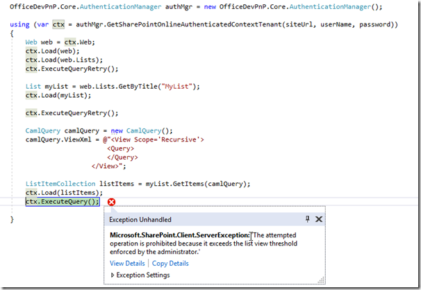 How to Execute CAML Query in Large SharePoint Lists using CAML To