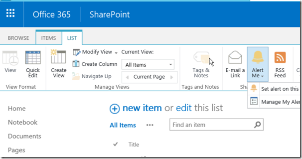 How to Disable/Enable User Alerts in SharePoint Office 365 using