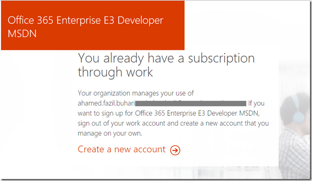 msdn office 365 developer account
