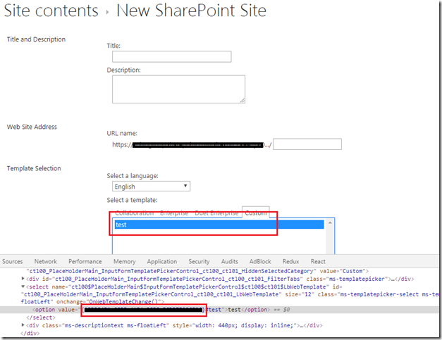 Provision SharePoint Site using Custom Template with PnP JS
